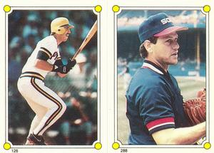1987 Topps Stickers Hardback Test Issue #126 / 288 Sid Bream / Carlton Fisk Front