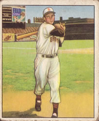 1950 Bowman #16 Roy Sievers Front