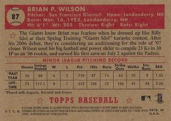 2006 Topps 1952 Edition #87 Brian Wilson Back