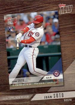 2019 Topps 2018 Topps Now Review #TN-8 Mike Trout Los Angeles Angels Baseball Card