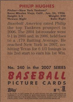 2007 Bowman Heritage #240a Philip Hughes Back