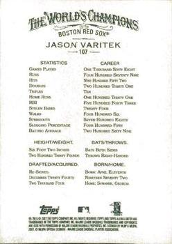 2007 Topps Allen & Ginter #107 Jason Varitek Back