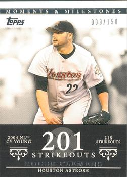 2007 Topps Moments & Milestones #162-201 Roger Clemens Front