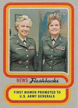 2019 Topps Heritage - News Flashbacks #NF-13 First Women Promoted to U.S. Army Generals Front