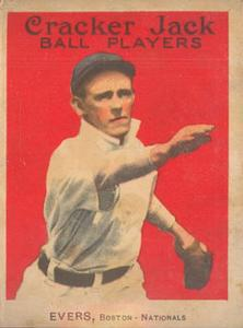 1914 Cracker Jack (E145) #18 Johnny Evers Front