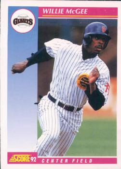 1992 Score #112 Willie McGee Front