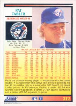 Pat Tabler Gallery - 1992 | The Trading Card Database