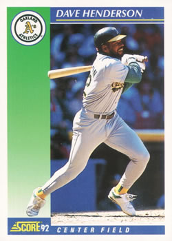 1992 Score #5 Dave Henderson Front