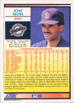 Errors Variations Gallery 1992 Score Baseball The Trading Card