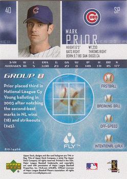 2005 Upper Deck - Flyball #40 Mark Prior Back