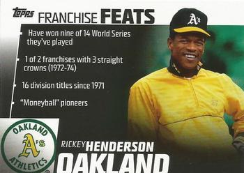 2019 Topps 150 Years of Baseball #14 Rickey Henderson Oakland Athletics