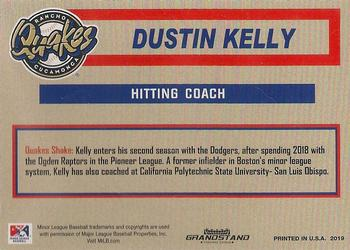2019 Grandstand Rancho Cucamonga Quakes #NNO Dustin Kelly Back