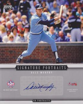 2005 Upper Deck Portraits - Signature Portraits Auto 8 x 10 #SP-DM Dale Murphy Front