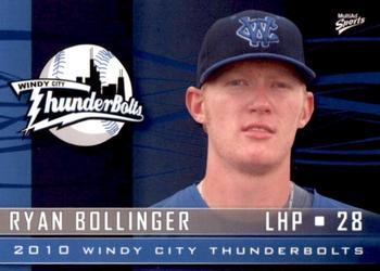 2010 MultiAd Windy City ThunderBolts #8 Ryan Bollinger Front