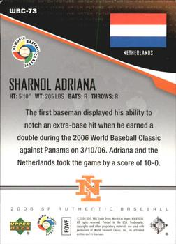 2006 SP Authentic - WBC Future Watch #73 Sharnol Adriana Back
