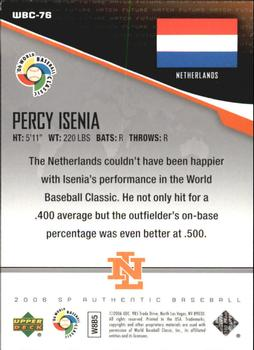 2006 SP Authentic - WBC Future Watch #76 Percy Isenia Back