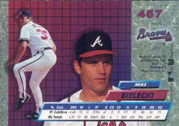 1992 Ultra #457 Mike Bielecki Back