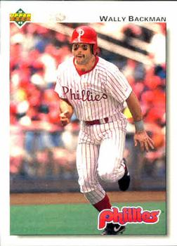 1992 Upper Deck #350 Wally Backman Front