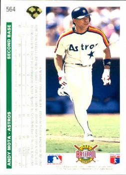 1992 Upper Deck #564 Andy Mota Back