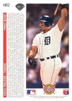 1992 Upper Deck Home Run Heroes Baseball Gallery The Trading