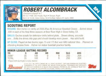 2007 Bowman - Prospects Gold #BP4 Robert Alcombrack Back