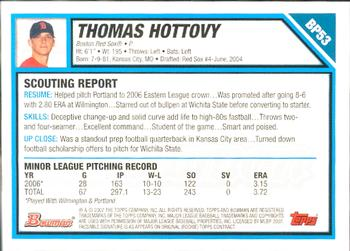 2007 Bowman - Prospects Gold #BP53 Thomas Hottovy Back