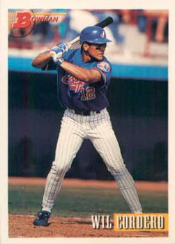 1993 Bowman #508 Wil Cordero Front