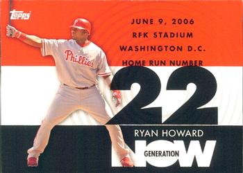 2007 Topps - Generation Now #GN22 Ryan Howard Front