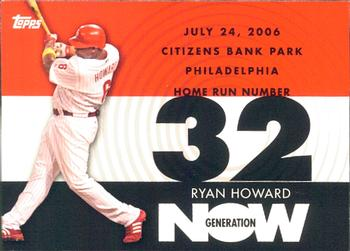 2007 Topps - Generation Now #GN32 Ryan Howard Front