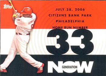 2007 Topps - Generation Now #GN33 Ryan Howard Front