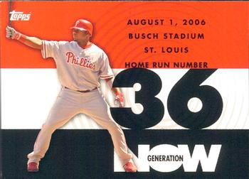 2007 Topps - Generation Now #GN36 Ryan Howard Front