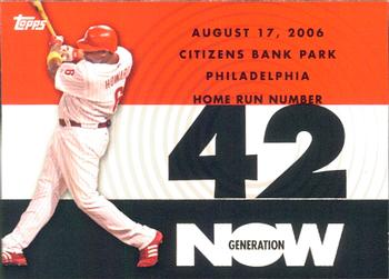 2007 Topps - Generation Now #GN42 Ryan Howard Front