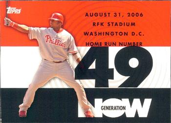 2007 Topps - Generation Now #GN49 Ryan Howard Front