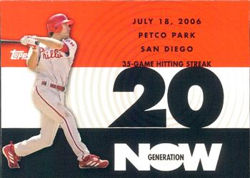 2007 Topps - Generation Now #GN70 Chase Utley Front