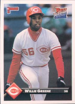 1993 Donruss #143 Willie Greene Front