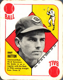 1951 Topps Red Backs #34 Grady Hatton Front