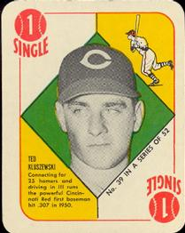 1951 Topps Red Backs #39 Ted Kluszewski Front