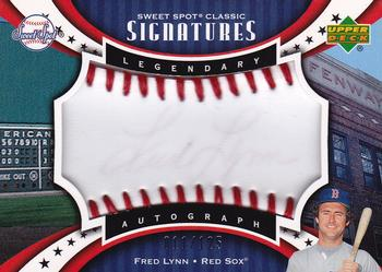 2007 Upper Deck Sweet Spot Classic - Signatures Red Stitch Blue Ink #SPS-FL Fred Lynn Front