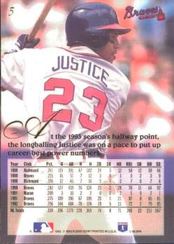 1993 Flair #5 David Justice Back