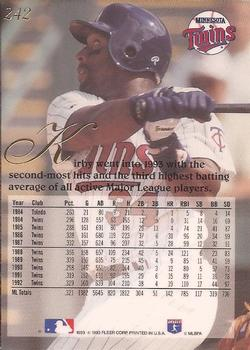 1993 Flair #242 Kirby Puckett Back