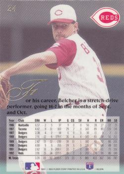 1993 Flair #24 Tim Belcher Back