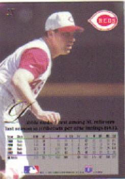 1993 Flair #25 Rob Dibble Back