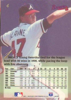 1993 Flair #4 Tom Glavine Back
