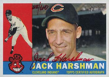 2009 Topps Heritage - Real One Autographs Red Ink #JH Jack Harshman Front