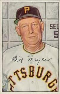 1952 Bowman #155 Billy Meyer Front