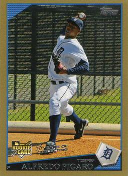 2009 Topps Updates & Highlights - Gold Border #UH116 Alfredo Figaro Front