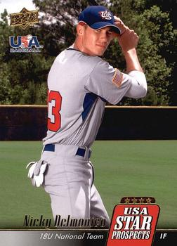 2009 Upper Deck Signature Stars - USA Star Prospects #USA-5 Nicky Delmonico Front