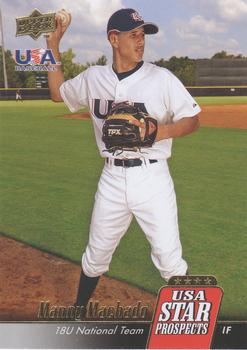 2009 Upper Deck Signature Stars - USA Star Prospects #USA-10 Manny Machado Front