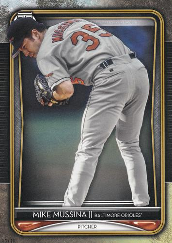 2020 Topps Tribute - 5x7 Gold #2 Mike Mussina Front