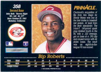 1993 Pinnacle #358 Bip Roberts Back